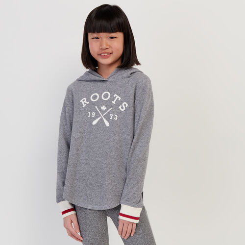 Roots-Kids New Arrivals-Girls Cabin Hoody-Light Salt & Pepper-A