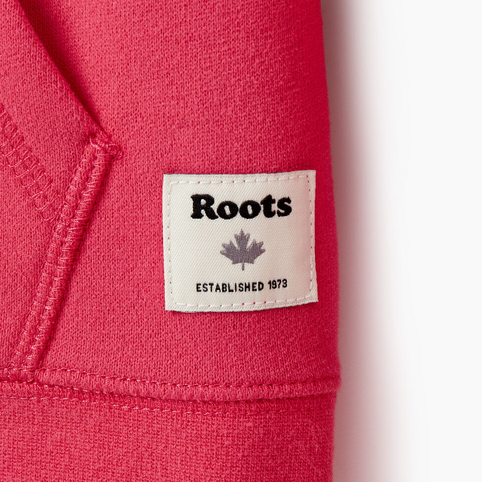 Roots-Clearance Kids-Girls Original Full Zip Hoody-Pink Flambé-E