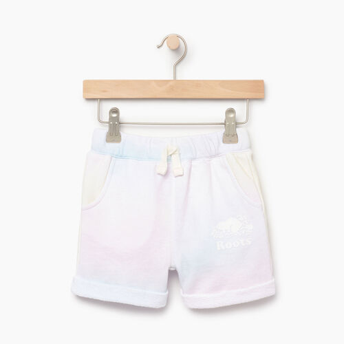 Roots-Clearance Kids-Toddler Watercolour Short-Ivory-A