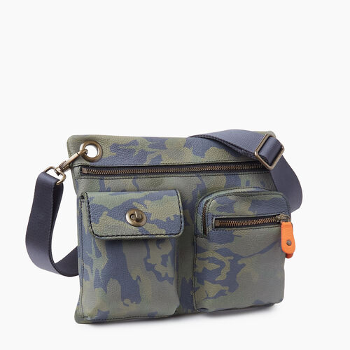 Roots-Women Leather-Village Bag Camo-Green Camo-A