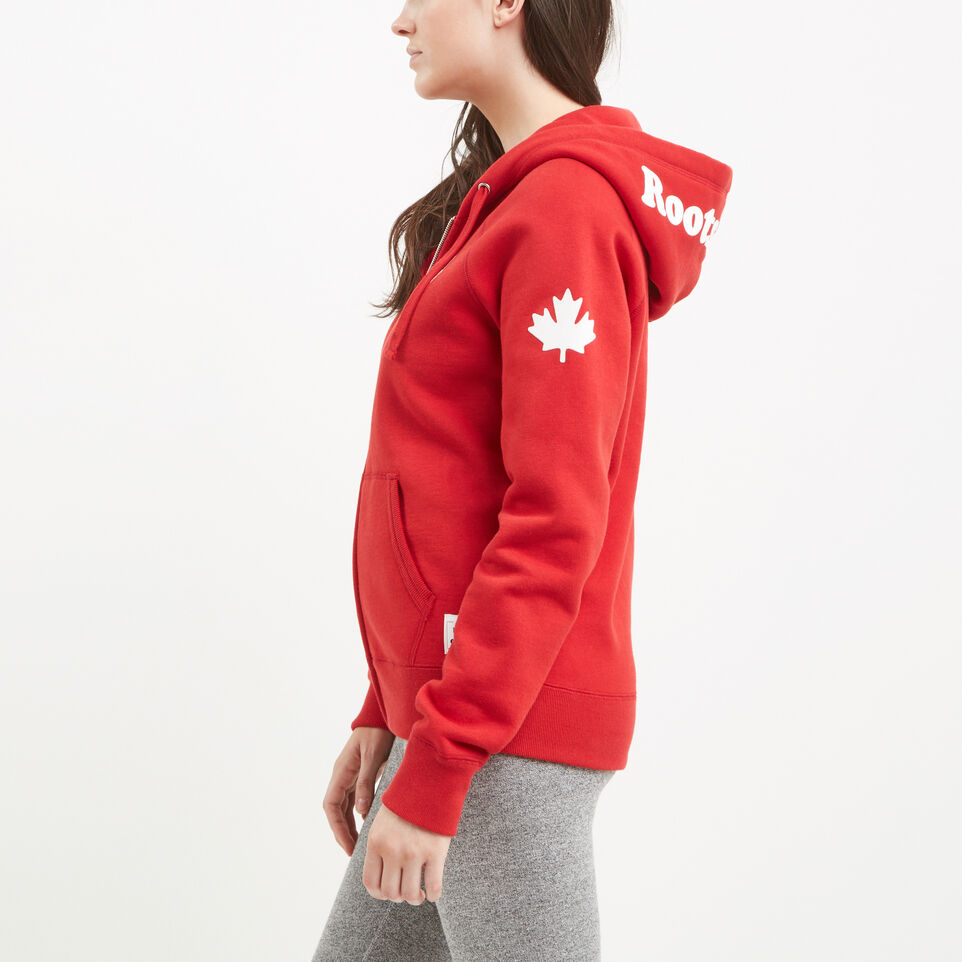 Roots-undefined-Womens Cooper Canada Full Zip Hoody-undefined-B