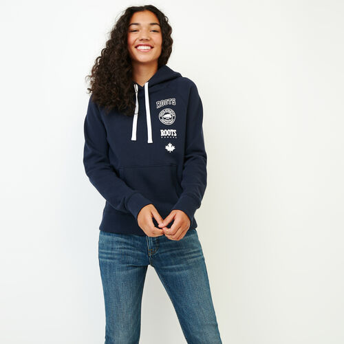 Roots-Women Our Favourite New Arrivals-Stamps Kanga Hoody-Navy Blazer-A