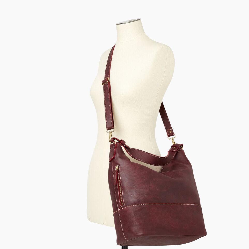 Roots-Leather Our Favourite New Arrivals-West End Hobo-Crimson-B