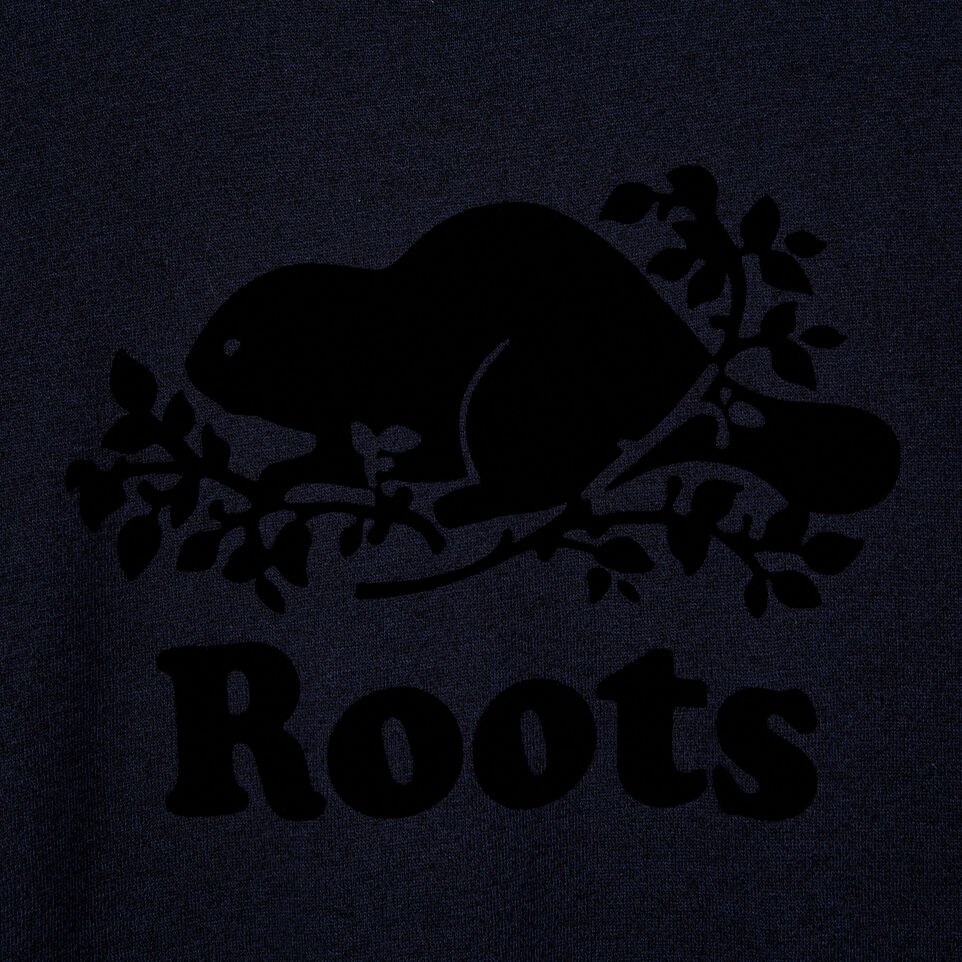 Roots-New For May Men-Mens Cooper Beaver T-shirt-Navy Blazer Pepper-D