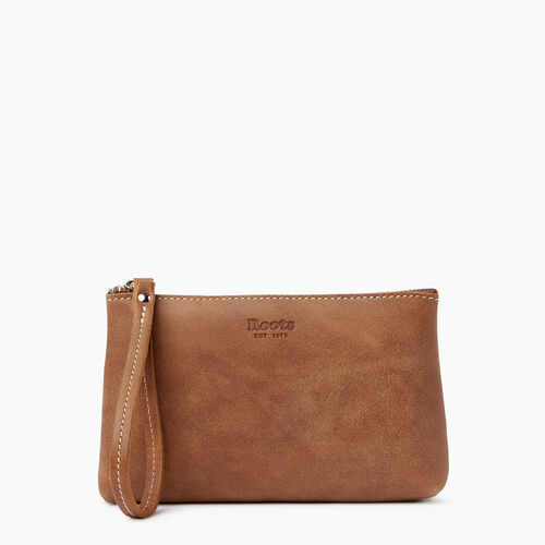 Roots-Leather Our Favourite New Arrivals-Wristlet Pouch-Natural-A