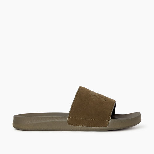 Roots-Footwear Men's Footwear-Mens Long Point Slide-Fatigue-A
