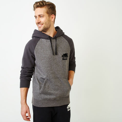 Roots-Men Tops-Sussex Kanga Hoody-Charcoal Pepper-A
