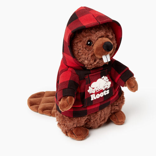 Roots-New For November General Store-Roots Beaver Stuffie-Cabin Red-A