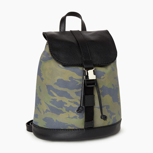 Roots-Men Backpacks-City Hiking Pack Camo-Green Camo-A
