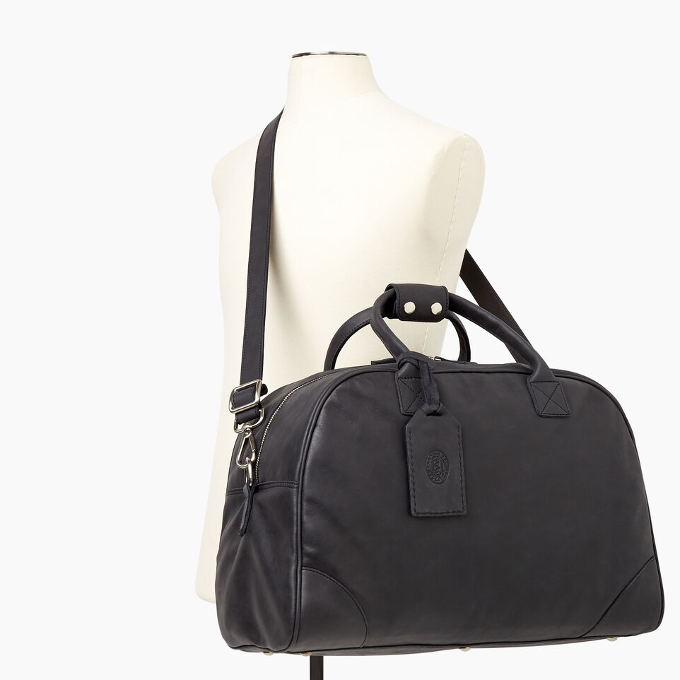 Roots-Leather Our Favourite New Arrivals-Jasper Gym Bag-Jet Black-B