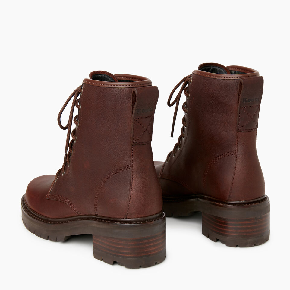 Roots-Women Clothing-Womens Port Dalhousie Boot-Cocoa-E