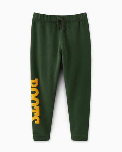 Roots-Kids Bottoms-Toddler Retro Slim Sweatpant-Camp Green-A
