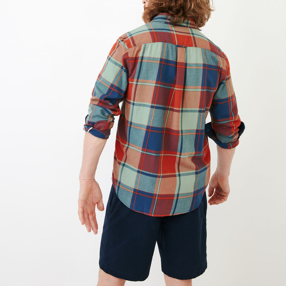 Roots-Men Our Favourite New Arrivals-Lakewood Plaid Shirt-Sargasso Sea-D