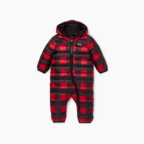 Roots-Kids Rompers & Onesies-Baby Roots Puffer Suit-Cabin Red-A