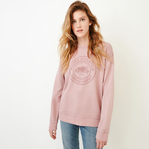 Roots-Women Our Favourite New Arrivals-Department Crew Sweatshirt-Woodrose-A