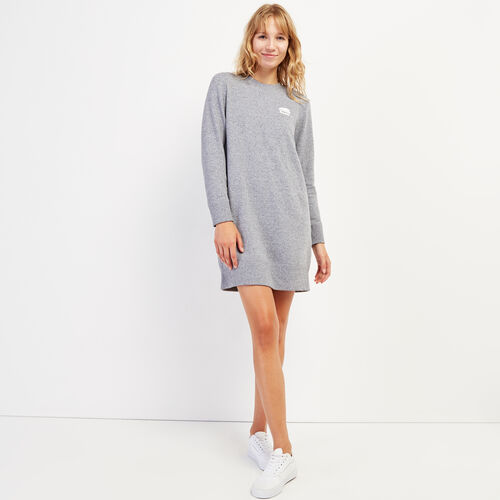 Roots-Women Dresses & Jumpsuits-Cozy Fleece Dress-Salt & Pepper-A