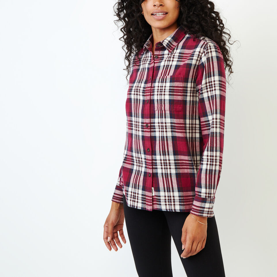 Roots-Women Categories-All Seasons Relaxed Shirt-Tibetan Red-A