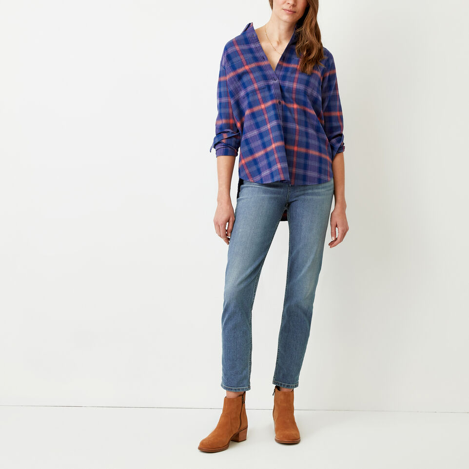 Roots-Women Our Favourite New Arrivals-Nora Flannel Shirt-Dark Lilas-B