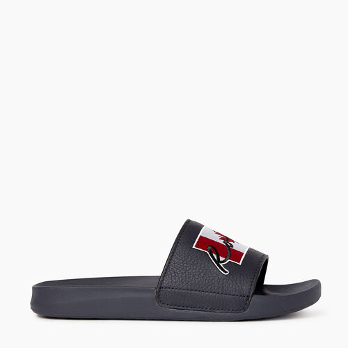Roots-Footwear Sandals-Womens Long Point Canada Slide-Black-A