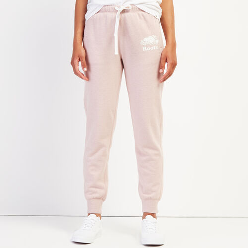 Roots-Women Sweatpants-Original Slim Cuff Sweatpant-Deauville Mauve Mix-A