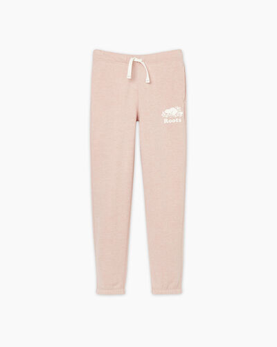 Roots-Sweats Girls-Girls Original Roots Sweatpant-Pale Mauve Pepper-A