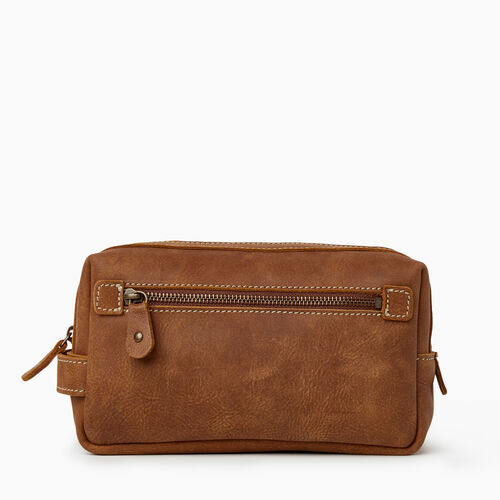 Roots-Leather Leather Accessories-James Travel Case Tribe-Natural-A