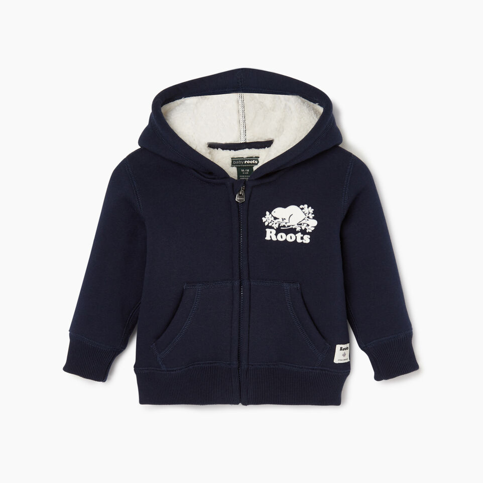 Roots-Kids Categories-Baby Sherpa Lined Full Zip Hoody-Navy Blazer-A