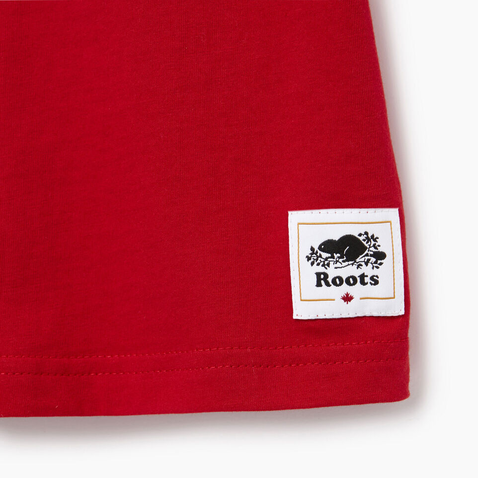 Roots-Kids Our Favourite New Arrivals-Boys Cooper Canada Ringer T-shirt-Sage Red-C