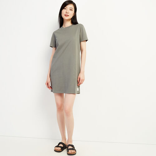 Roots-Women Dresses & Jumpsuits-Eramosa T-shirt  Dress-Balsam Green-A