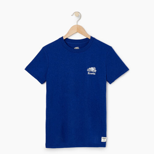 Roots-Women Graphic T-shirts-Womens Robson T-shirt-Lakeside Blue Mix-A