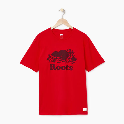 Roots-Men Our Favourite New Arrivals-Mens Cooper T-shirt-Racing Red-A