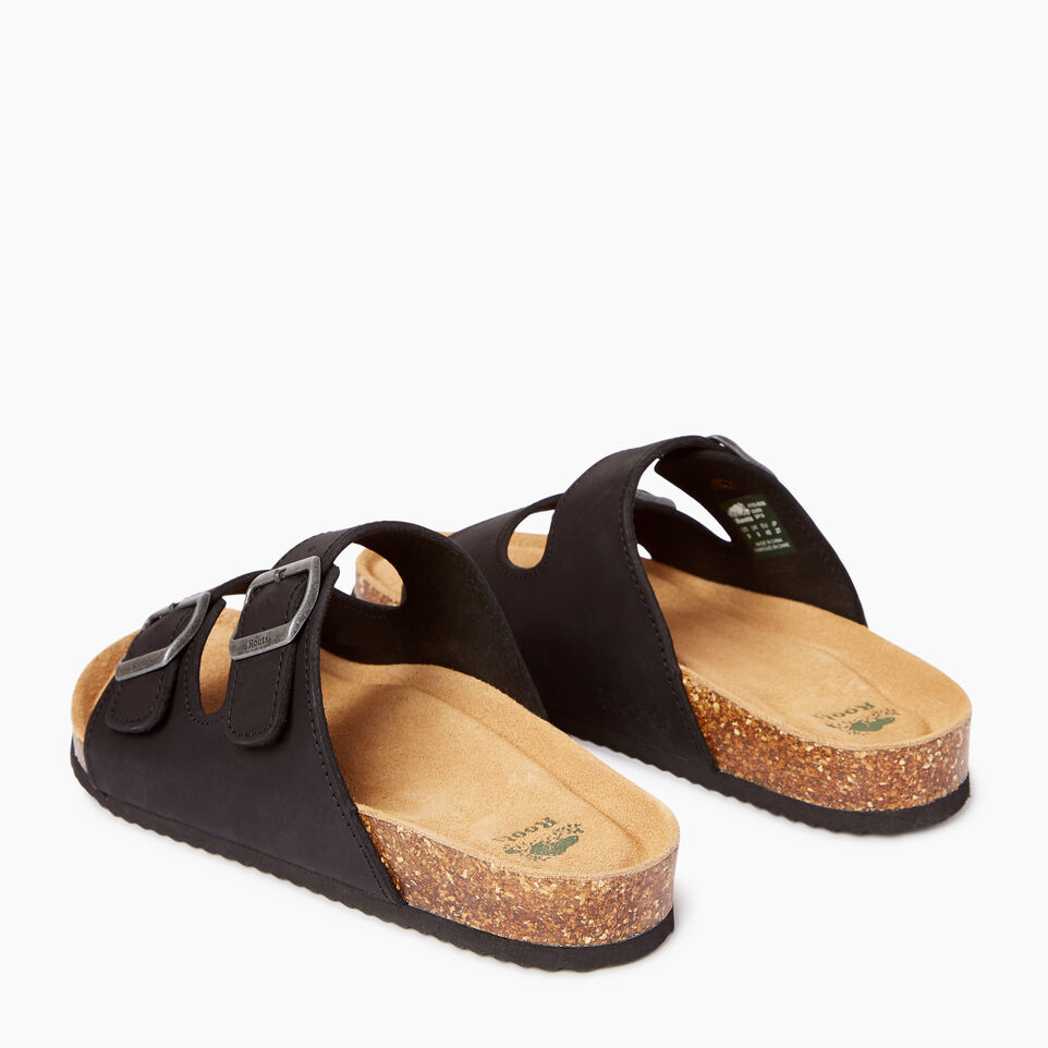 Roots-Footwear Our Favourite New Arrivals-Mens Natural 2 Strap Sandal-Black-C