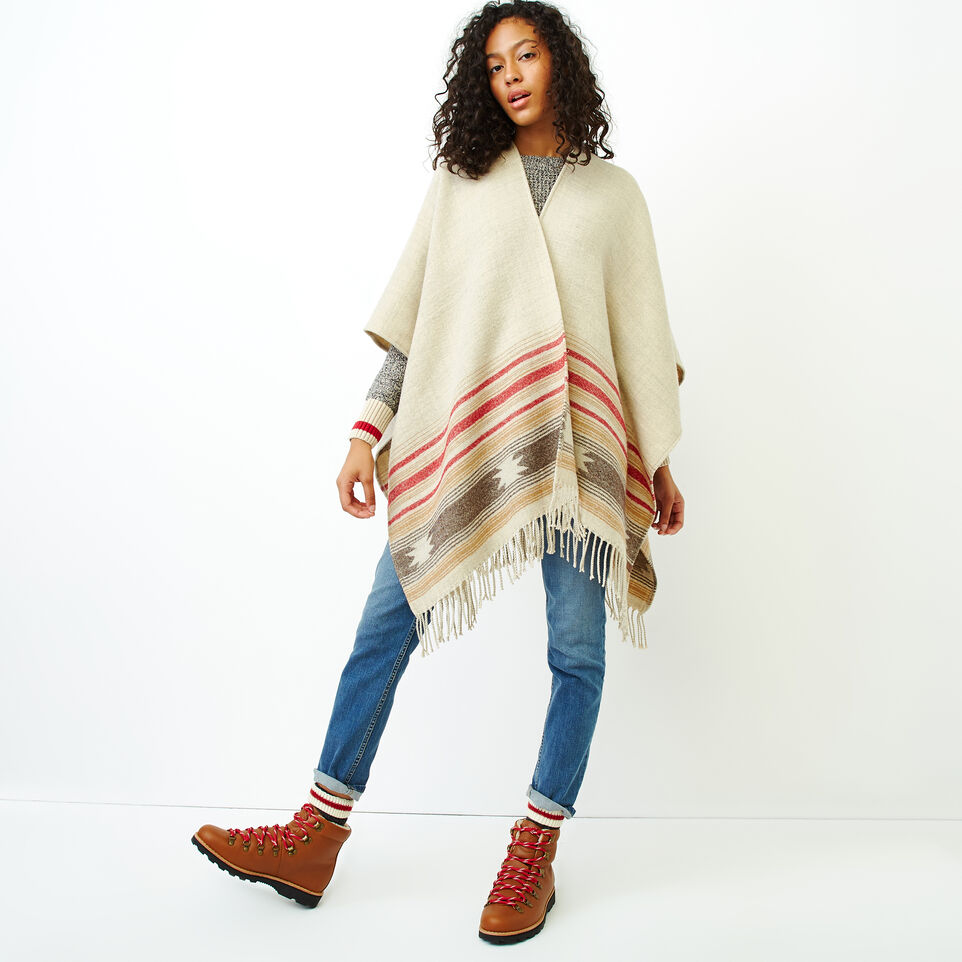 Roots-Women Accessories-Erindale Wrap-Flaxseed Mix-A
