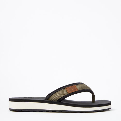 Roots-Sale Footwear-Womens Tofino Flip Flop Web-Dusty Olive-A