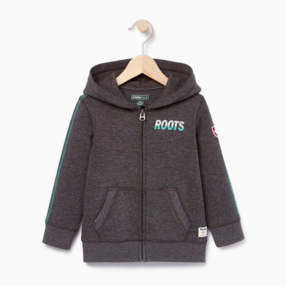 Roots-Kids Categories-Toddler Roots Speedy Full Zip Hoody-Charcoal Mix-A
