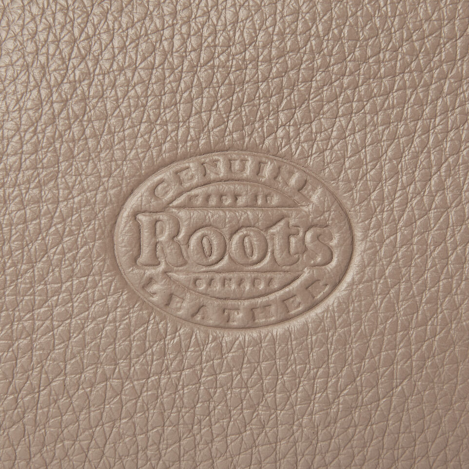 Roots-Leather Our Favourite New Arrivals-Medium Zip Pouch-Flint Grey-E
