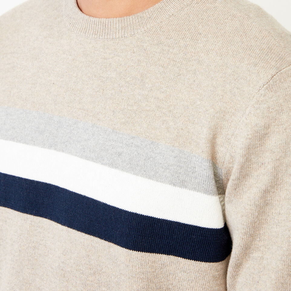 Roots-undefined-Var-city Striped Crewneck Sweater-undefined-E