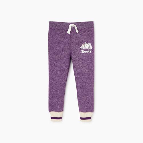 Roots-Kids Toddler Girls-Toddler Buddy Cozy Fleece Sweatpant-Grape Royale Pepper-A
