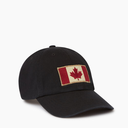 Roots-Men Our Favourite New Arrivals-Vintage Flag Baseball Cap-Black-A