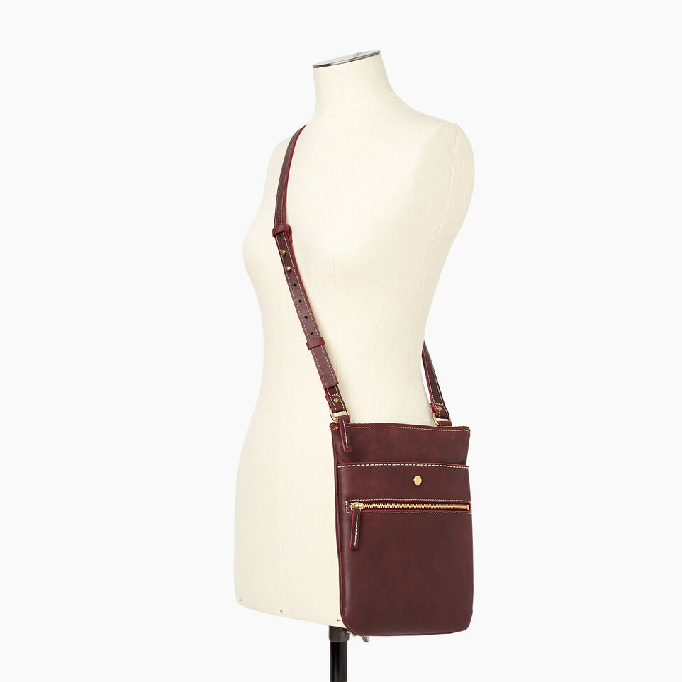 Roots-Women Clothing-Rosedale Crossbody-Crimson-B
