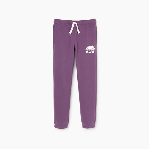 Roots-Kids Our Favourite New Arrivals-Girls Original Roots Sweatpant-Grape Jam-A