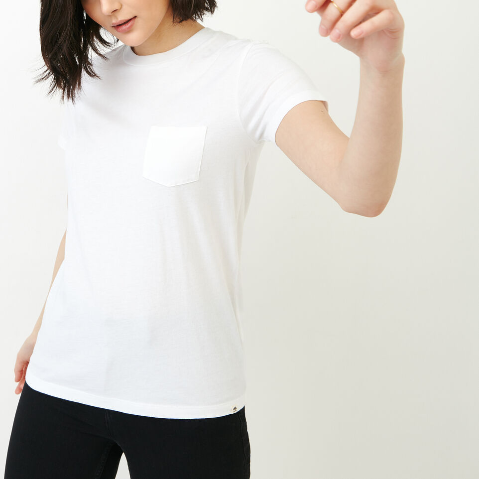 Roots-New For August Women-Essential T-shirt-Crisp White-A