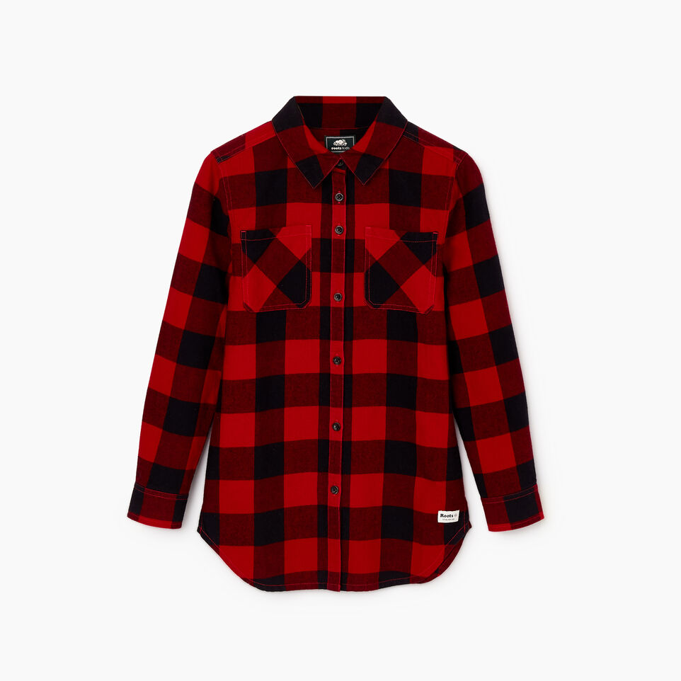 Roots-undefined-Girls Park Plaid Shirt-undefined-B