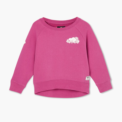 Roots-Kids Tops-Toddler Remix Crew Sweatshirt-Purple Orchid-A