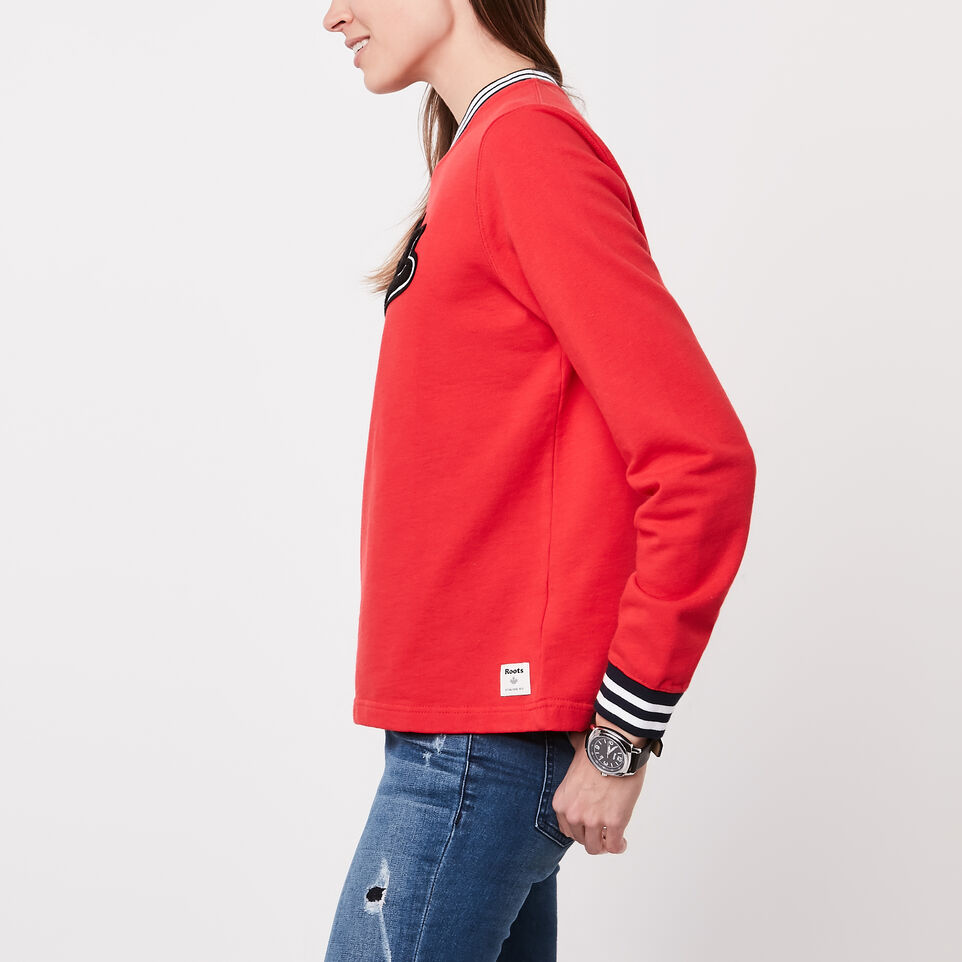 Roots-undefined-Varsity Chenille V-neck Sweatshirt-undefined-B