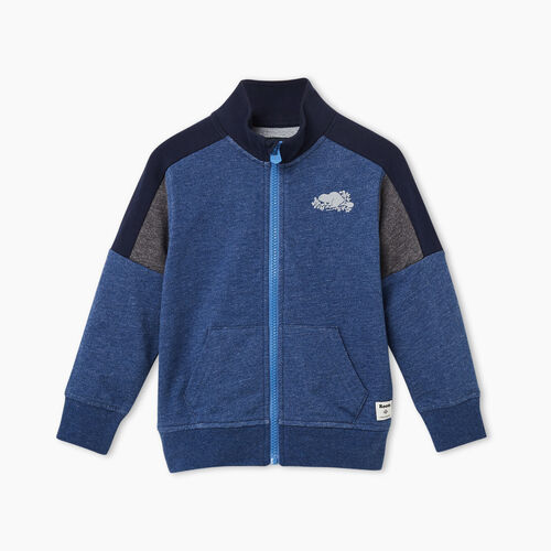 Roots-Kids Tops-Toddler Active Track Jacket-Navy Blazer Mix-A