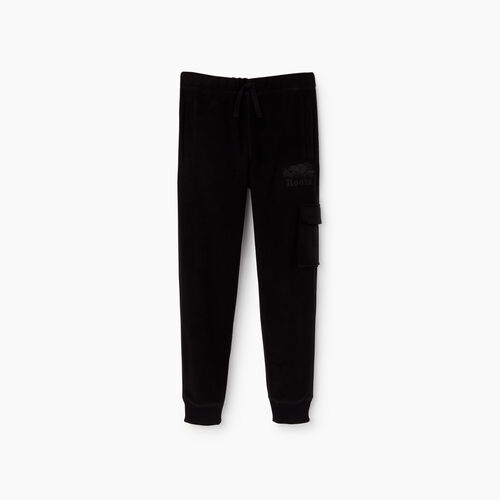 Roots-Kids Sweats-Boys Nordic Trek Cargo Pant-Black-A