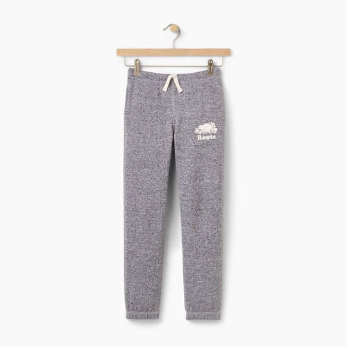 Roots-Kids Bottoms-Girls Original Roots Sweatpant-Salt & Pepper-A