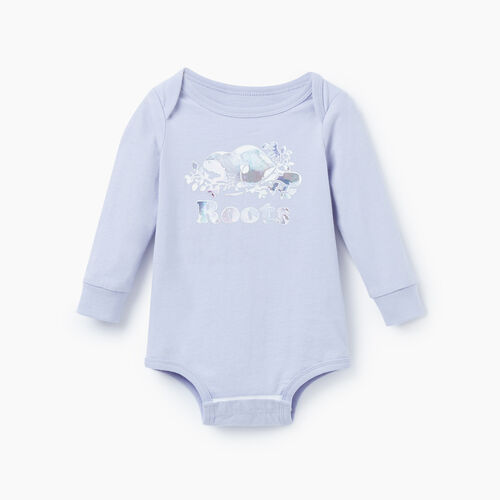 Roots-Kids Our Favourite New Arrivals-Baby Cooper Beaver Bodysuit-Cosmic Sky-A