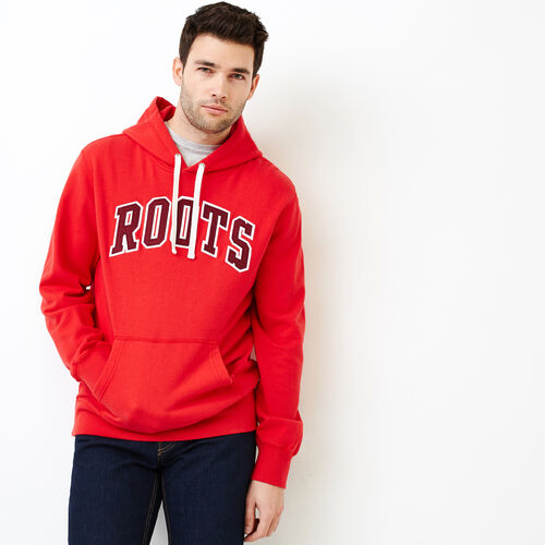 Roots-New For July Men-Arch Kanga Hoody-Racing Red-A